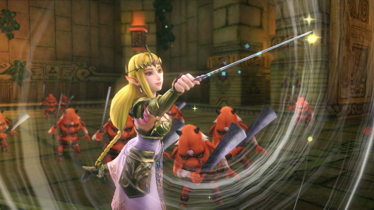 Curajosul Link isi croieste drum prin multimea de inamici folosindu-se de o serie de miscari de lupta