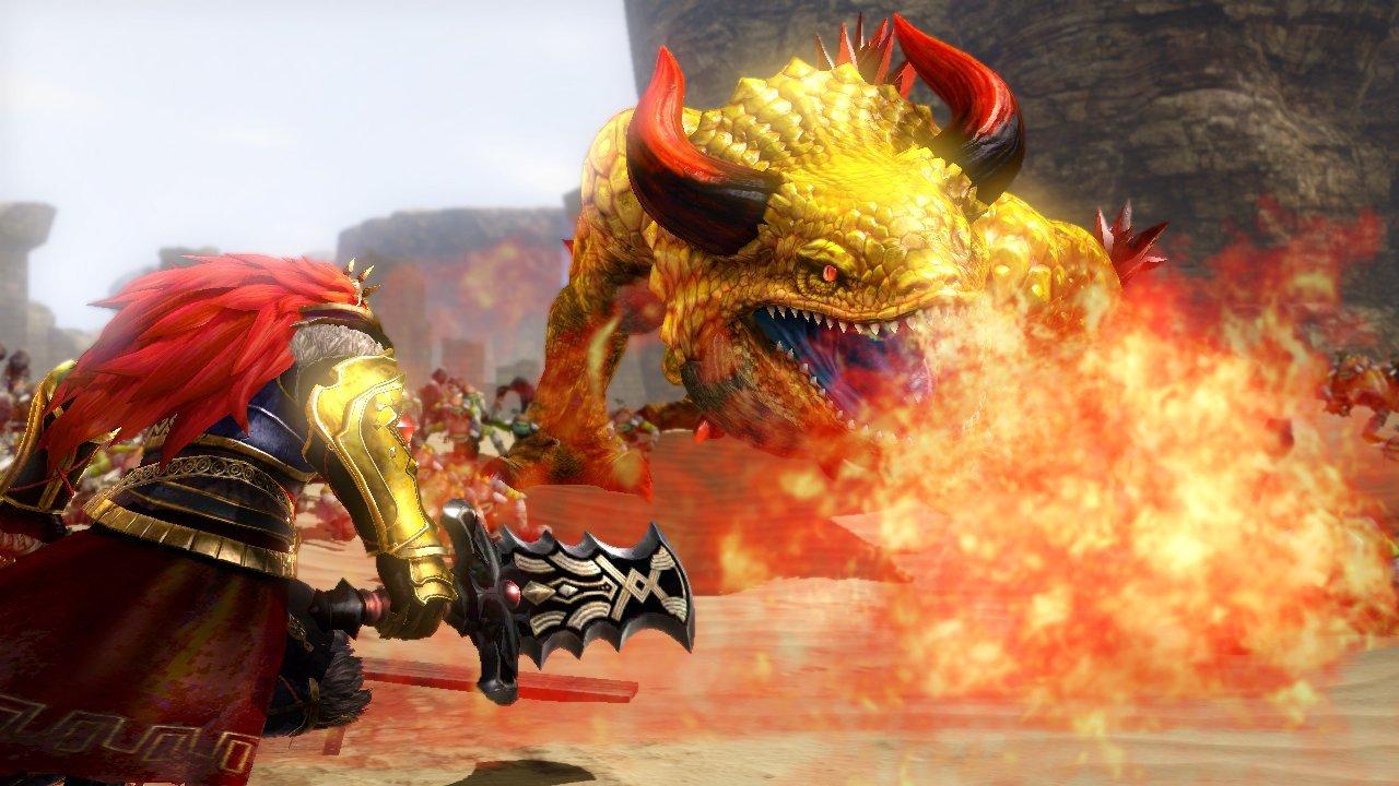 Lupta impotriva inamicilor ce debuteaza in Hyrule Warriors