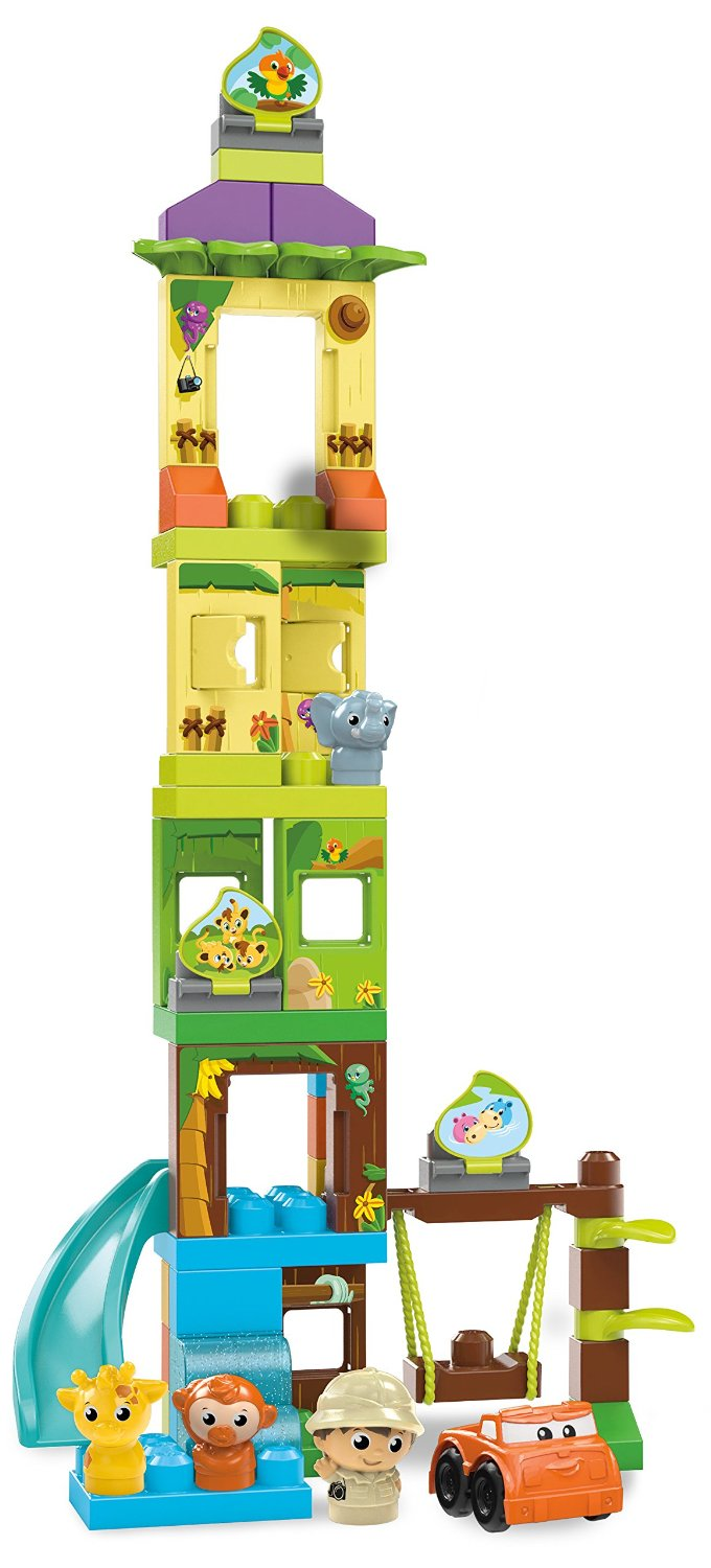 Jucarie mega bloks first builders swing slide safari for Builders first