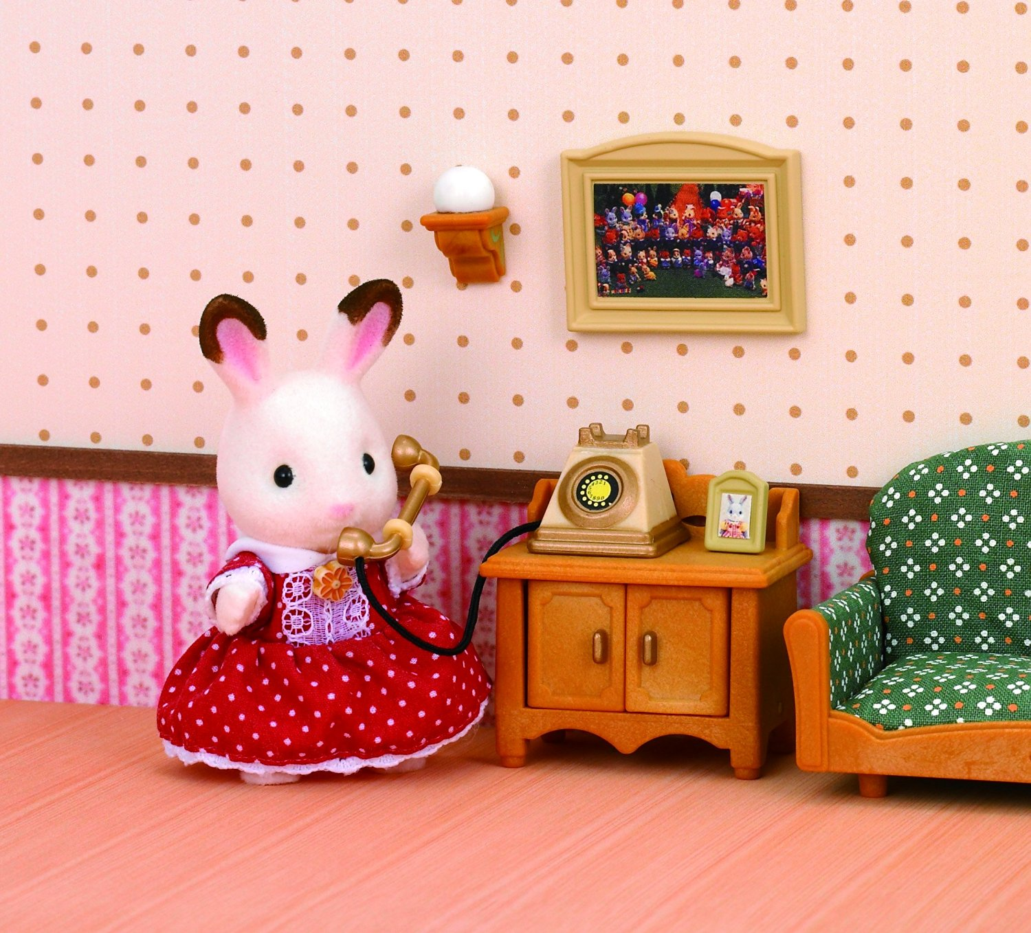 jucarie sylvanian families deluxe living room set. Black Bedroom Furniture Sets. Home Design Ideas