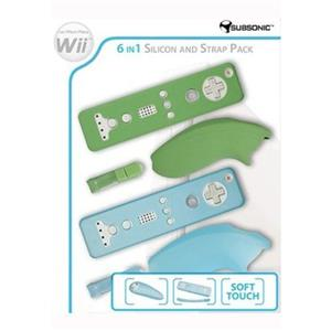 6-In-1 Silicon And Strap Pack Nintendo Wii
