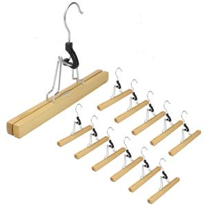 Bamboo Trousers Clamp Hangers - Set of 12 | M&W
