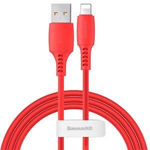 Baseus Colourful Cable Usb Lightning 2.4A 1.2M Red