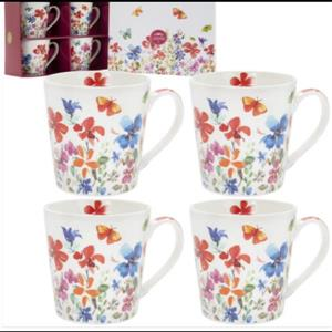 Butterfly Meadow Mugs Set Of 4 By Lesser & Pavey