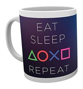 Cana Playstation Eat Sleep Repeat Mug