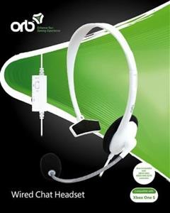 Casti ORB Wired Chat Headset White Xbox One