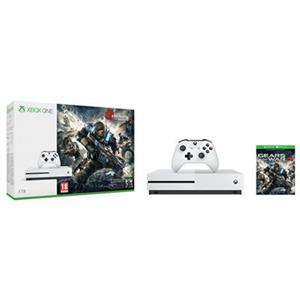 Consola Microsoft Xbox One S 1TB Gears of War 4 Limited Edition Bundle White