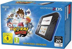 Consola Nintendo 2DS Black & Blue Plus Yo-Kai-Watch Pre Installed Nintendo 3DS