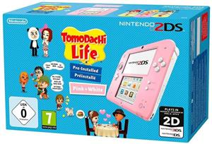 Consola Nintendo 2DS Console Pink & White & Tomodachi Life