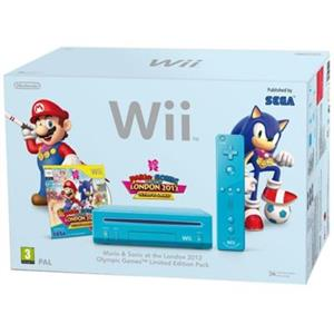 Consola Nintendo Wii Blue Cu Mario And Sonic At The London 2012 Olympic Games