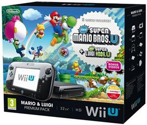 Consola Nintendo Wii U Black Cu New Super Mario Bros Si New Super Luigi