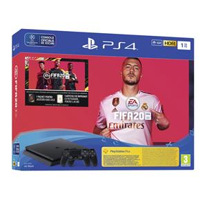 Consola PS4 Slim 500 GB Jet Black Dualshock Controller FIFA 20 PS4
