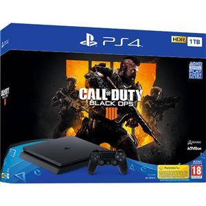Consola Sony PlayStation 4 Slim 1TB Jet Black + Call of Duty Black Ops 4