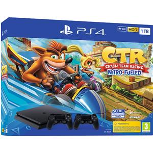 Consola SONY PlayStation 4 Slim 1TB Jet Black + Controller DualShock 4 V2 + Crash Team Racing Nitro-Fueled