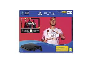 Consola SONY PlayStation 4 Slim 500 GB Jet Black + FIFA 20