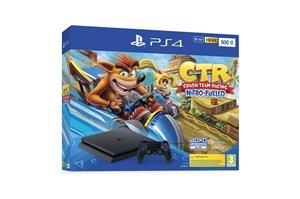 Consola Sony PlayStation 4 Slim 500GB + Crash Team Racing Nitro-Fueled Bundle
