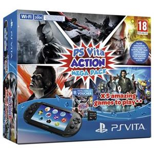Consola SONY PlayStation Vita Wi-Fi Action Mega Pack 8GB Memory Card