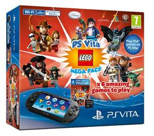 Consola SONY PlayStation Vita Wi-Fi cu Card 8GB si Voucher 10 Lego Games Mega Pack
