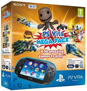 Consola SONY PlayStation Vita Wi-Fi cu Card 8GB si Voucher Hits 10 Games Mega Pack