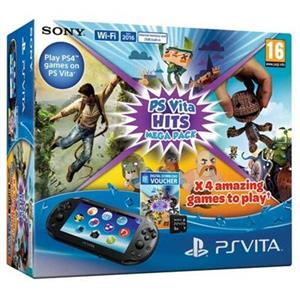 Consola SONY PlayStation Vita Wi-Fi cu Card 8GB si Voucher Hits Mega Pack