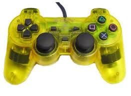 Controller Dual Shock Yellow Sony Ps2