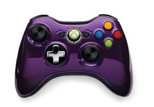 Controller Wireless Chrome Purple Xbox360