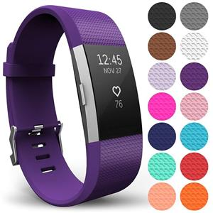 Curea Ceas Yousave Fitbit Charge 2 Small Plum