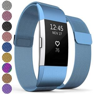 Curea Metal Ceas Proworks FitBit Charge 2 Milanese Blue