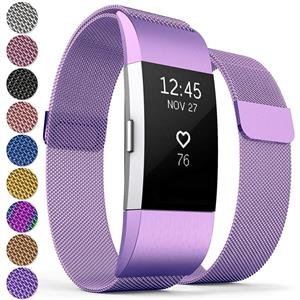 Curea Metal Ceas Proworks FitBit Charge 2 Milanese Plum