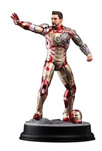 Figurina Dragon Models Iron Man 3 Mark XLII Battle Damaged Version 1:9 Scale