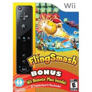 Flingsmash Plus Wii Remote Plus Black Wii