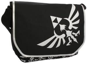 Geanta Zelda Triforce Logo Black Messenger Bag