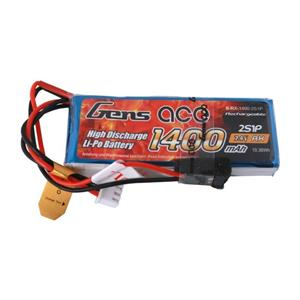 Gens Ace 1400Mah 7.4V 1C 2S1p / H501s Battery