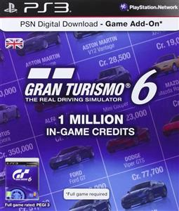 Gran Turismo 6 Card 1 Million Credits PS3
