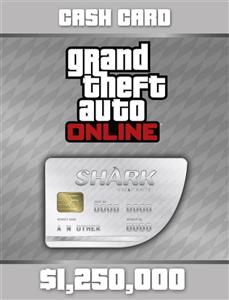 Grand Theft Auto V Great White Shark Card (Social Club Code Only)