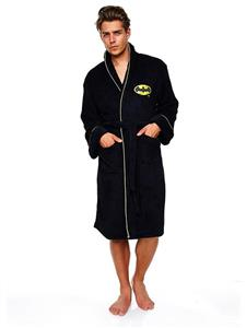 Halat Batman DC Comics Fleece Robe DC black Logo Adult One Size