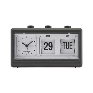 House Doctor - Retro Clock w. Alarm and Calendar - Black (MGEA0403)