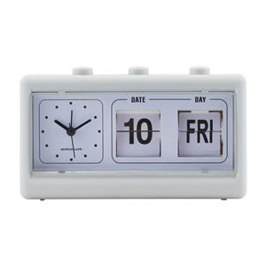 House Doctor - Retro Clock w. Alarm and Calendar - Grey (MGEA0401)