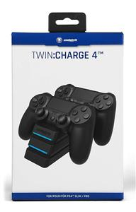 Incarcator Controller Twin Charge 4 Snakebyte Negru PS4