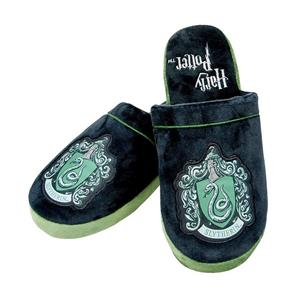 Papuci De Casa Slytherin Harry Potter Mule Slippers Black & Green Adult Large