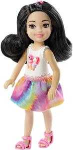 Papusa Mattel Barbie Club Chelsea Mini Girl Doll Cat Top With Black Hair Doll