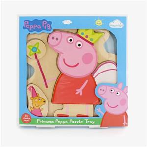 Peppa Pig - Wooden Princess Peppa Puzzle Tray (6 Pieces)
