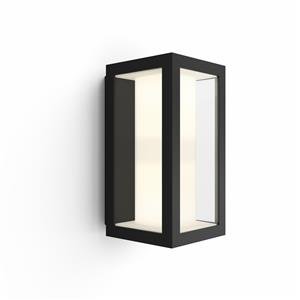 Philips Hue - Impress Wall Lantern Black - Outdoor - White & Color Ambiance