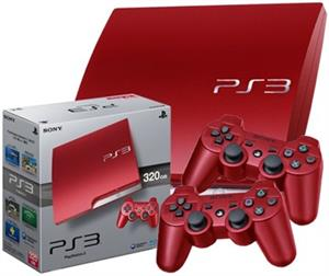Playstation 3 Slim Console 320Gb Scarlet Red  Ps3