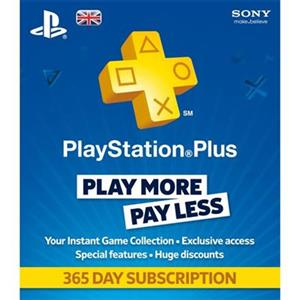 Playstation Plus 1 Year Subscription Card