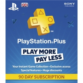Playstation Plus - 90 Day Subscription Card UK