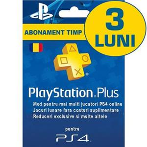 Playstation Plus Subscription Card Abonament 3 luni RO