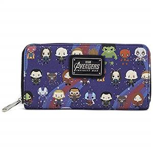 Portofel Gaming Loungefly Avengers Zip Wallet