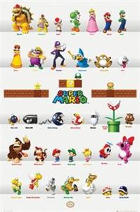 Poster Nintendo Characters 61 x 91.5 cm