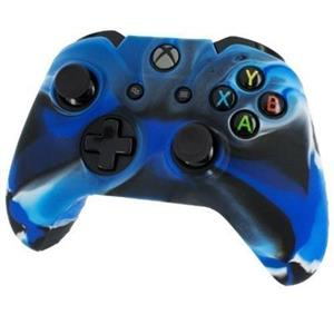 Pro Soft Silicone Protective Cover With Ribbed Handle Grip Camo Blue Xbox One
